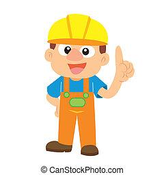Vector illustration of a builder