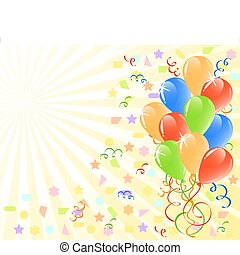vector illustration of a bunch of ballons with space for text.