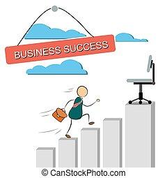 Vector illustration of a businessman running up