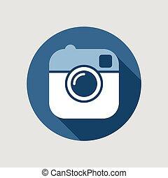Vector illustration of a camera.