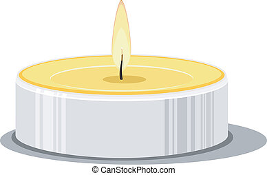 Vector illustration of a candle