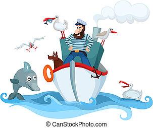 captain - vector illustration of a captain