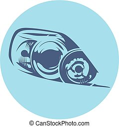 Vector illustration of a car headlight