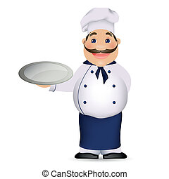 Chef Cook - Vector Illustration of a Cartoon Chef Cook