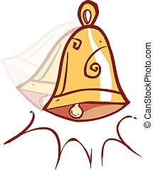 Vector illustration of a  cartoon Christmas bells