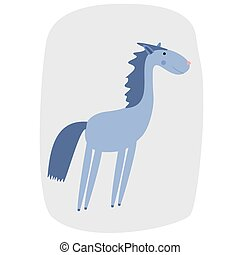 vector illustration of a cartoon horse