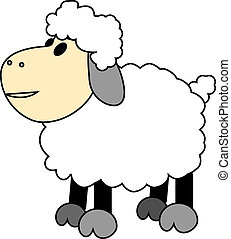 Vector illustration of a cartoon sheep