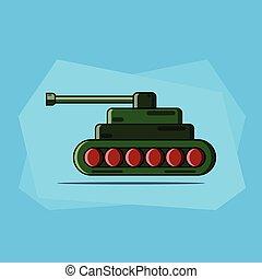 vector illustration of a cartoon tank