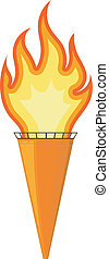 Vector illustration of a cartoon torch. EPS10