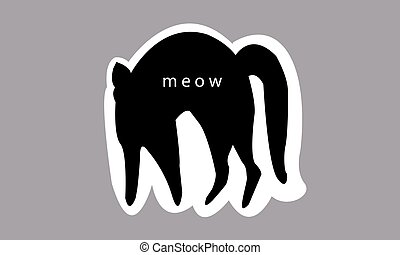 vector illustration of a cat, can be used as a sticker, icon