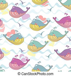 Vector illustration of a cheerful waterfowl, gull