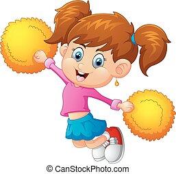 Illustration of a cheerleader - vector Illustration of a...