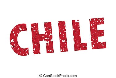 Vector illustration of a chile grunge stamp