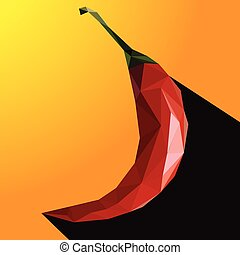 Vector illustration of a chili pepper