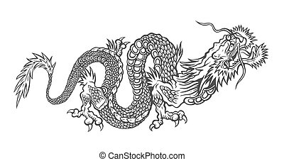 Vector illustration of a Chinese dragon.