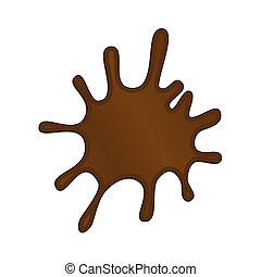 Vector Illustration of a Chocolate Splash