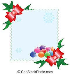 Vector illustration of a Christmas postcard