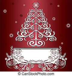 vector illustration of a Christmas tree with ornament.