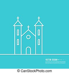 Vector illustration of a Church. - Vector illustration of a...