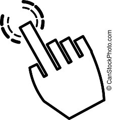 vector illustration of a click hand icon pointer