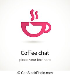 Vector illustration of a Coffee chat