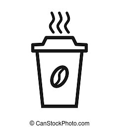 Vector illustration of a coffee cup icon