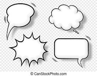 comic style speech bubbles