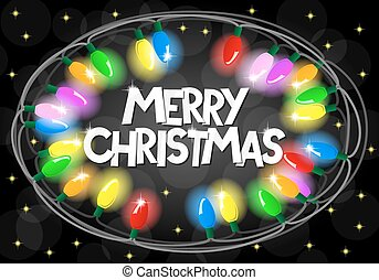 colorful christmas lights