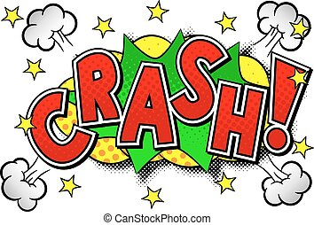 comic sound effect crash - vector illustration of a comic...