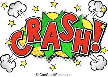 vector illustration of a comic sound effect crash