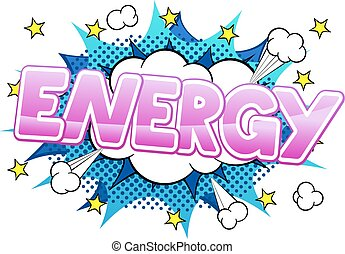 comic sound effect energy