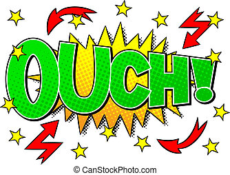 comic sound effect ouch