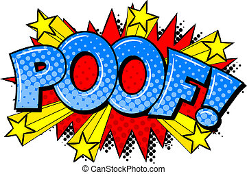 vector illustration of a comic sound effect poof