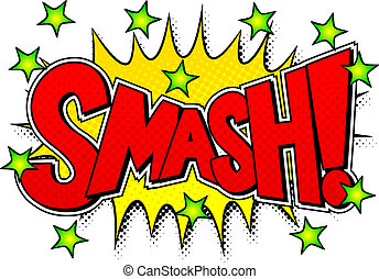comic sound effect smash - vector illustration of a comic ...
