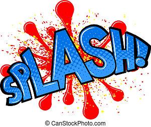 comic sound effect splash