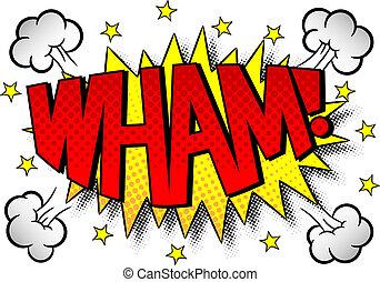 comic sound effect wham