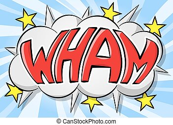 comic sound effect wham