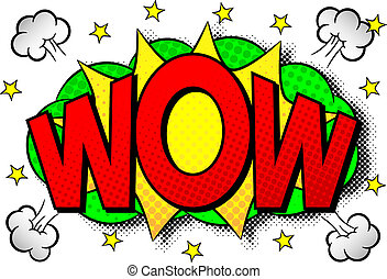 comic sound effect wow - vector illustration of a comic ...