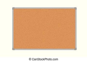 Vector illustration of a cork board in an aluminum frame