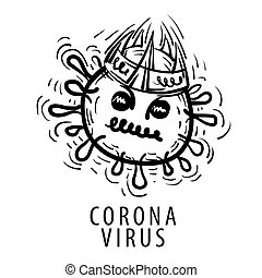 Vector illustration of a coronavirus on a white background