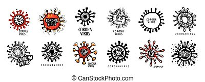 Vector illustration of a coronavirus on a white background
