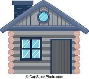 Cottage House - Vector Illustration of a Cottage House