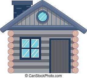 Cottage House - Vector Illustration of a Cottage House