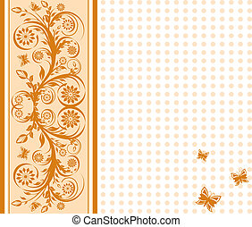 vector illustration of a  cover background with ornament