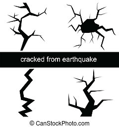 Vector illustration of a crack from the earthquake