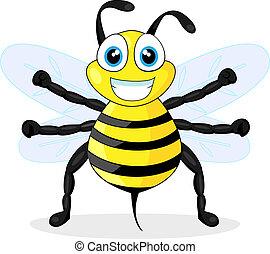 cute bee - vector illustration of a cute bee. No gradient.