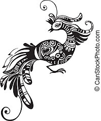 vector illustration of a cute bird