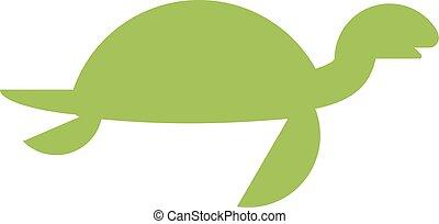 Vector illustration of a cute cartoon turtle.