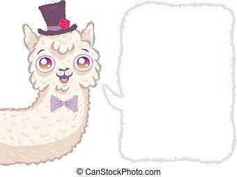 Cute alpaca like groom.