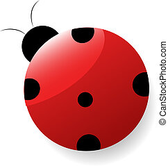 Vector illustration of a cute ladybug -1